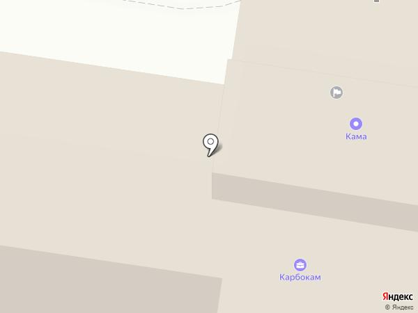 Карбокам на карте Краснокамска