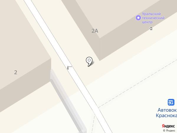 КАМА на карте Краснокамска