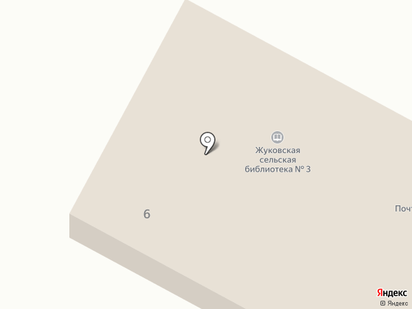 Жуковский сельский совет на карте Жуково