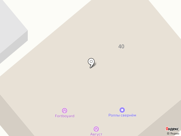 Август на карте Загородного
