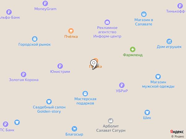 Магазин чулочно-носочных изделий на карте Салавата