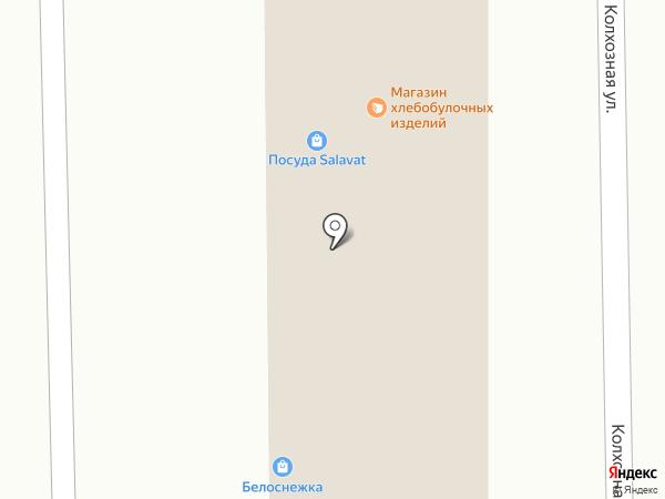 Магазин хлебобулочных изделий на карте Салавата