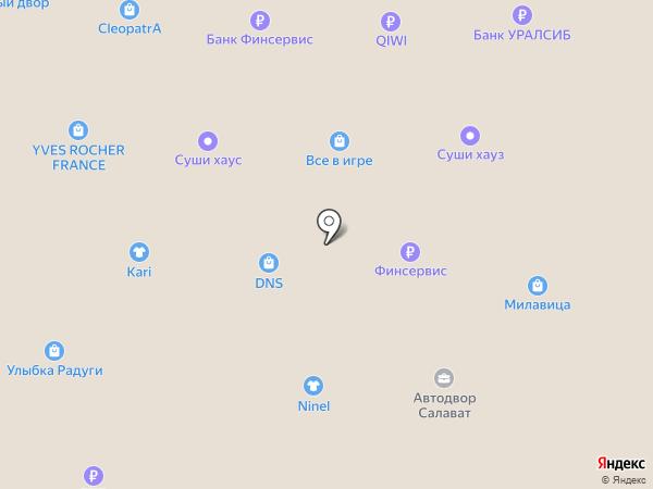 Магазин женской обуви на карте Салавата