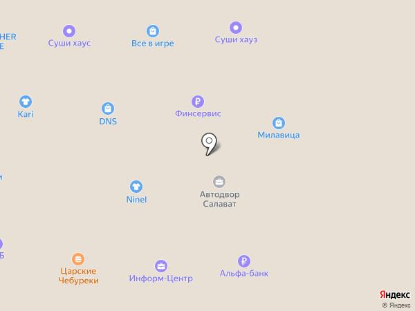 Островок Красоты на карте Салавата