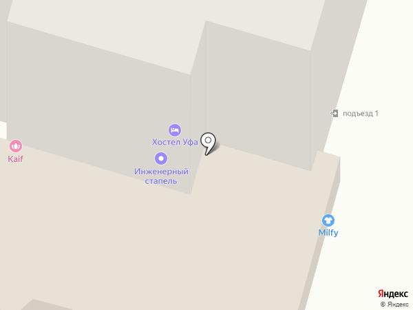 Авто-винил на карте Уфы