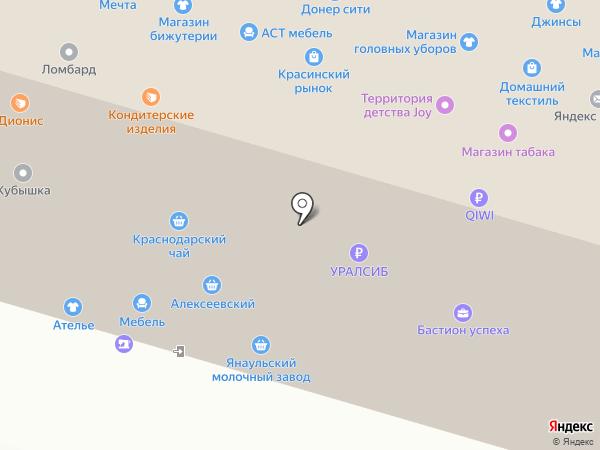 Желен на карте Уфы