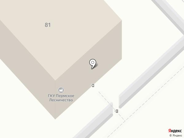 Пермское лесничество, ГКУ на карте Култаево