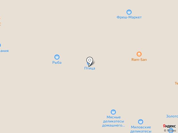 Магазин по продаже мяса птицы на карте Уфы