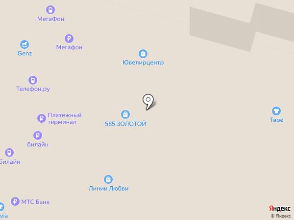 KRASNOE на карте Уфы