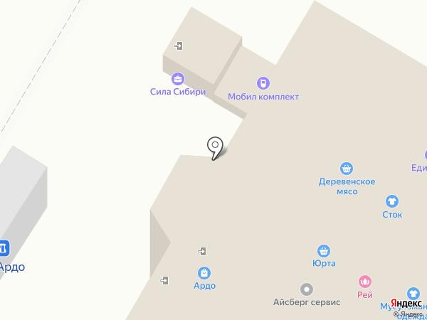Стаханов на карте Стерлитамака
