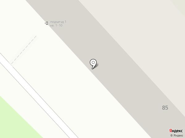 Шарик на карте Перми