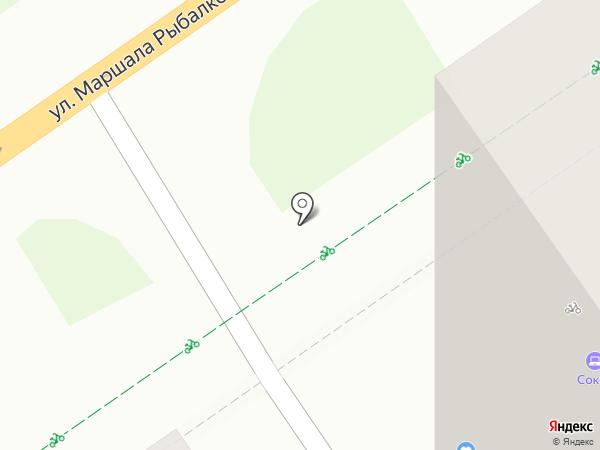 Сокол на карте Перми