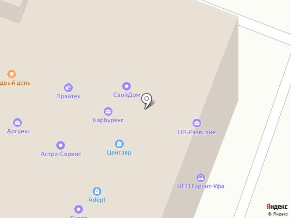 Дорожный адвокат на карте Уфы