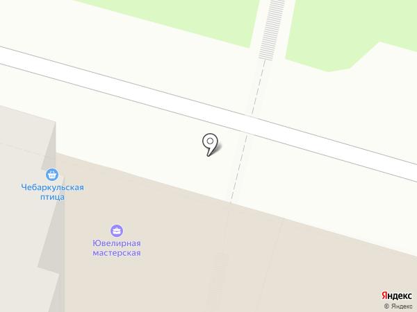 Чебаркульская птица на карте Уфы