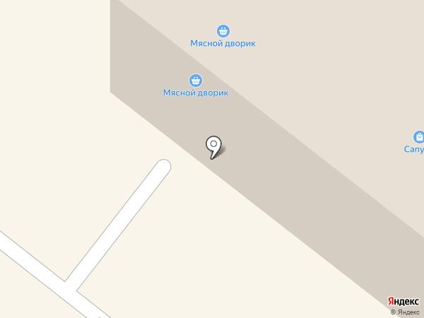 Мясной дворик на карте Уфы