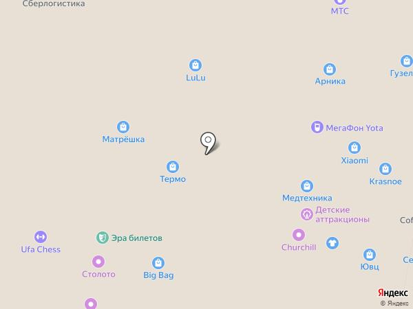 СтоЛото на карте Уфы
