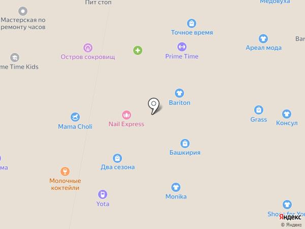 Оренбургская паутинка на карте Уфы