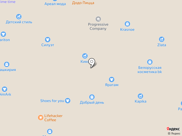 Солнце-шуба на карте Уфы