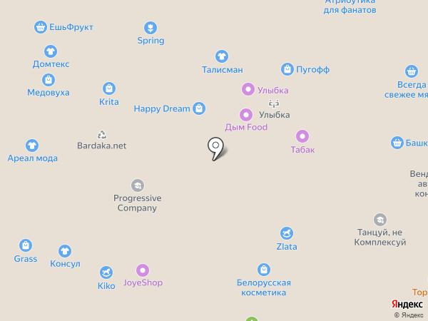 Верещагинский трикотаж на карте Уфы