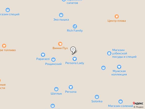 Штучные товары на карте Уфы
