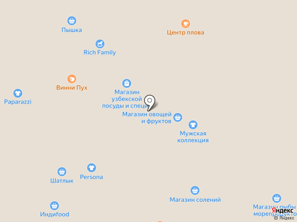 Бакалея на карте Уфы