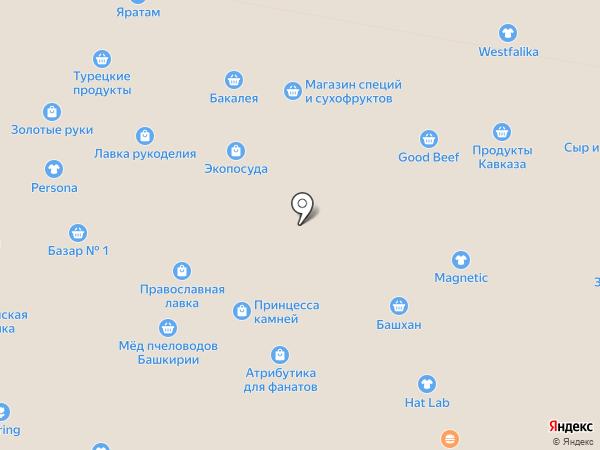Магазин табачных изделий на карте Уфы
