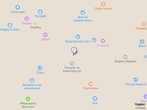 Сауда на карте Уфы