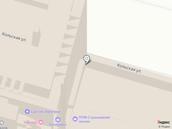 Промстройпроект на карте Уфы