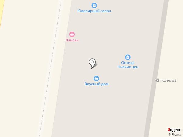 Ляйсан на карте Ишимбая