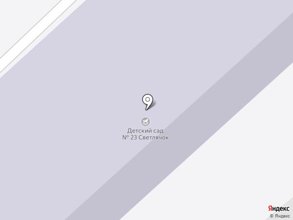 Детский сад №23, Светлячок на карте Ишимбая