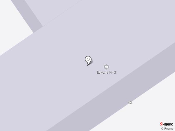 Средняя общеобразовательная школа №3 на карте Ишимбая