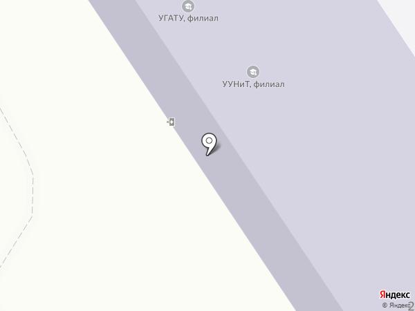 Уфимский государственный авиационный технический университет на карте Ишимбая