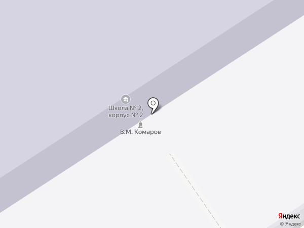 Средняя общеобразовательная школа №2 на карте Ишимбая