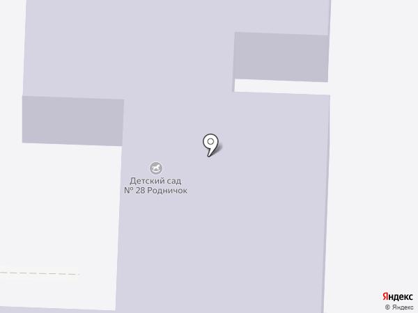 Детский сад №28, Родничок на карте Ишимбая