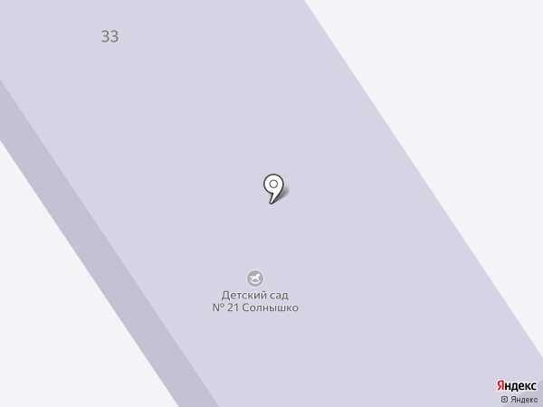 Детский сад №21, Солнышко на карте Ишимбая
