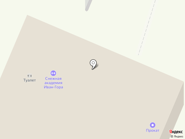 Иван-гора на карте Гамово