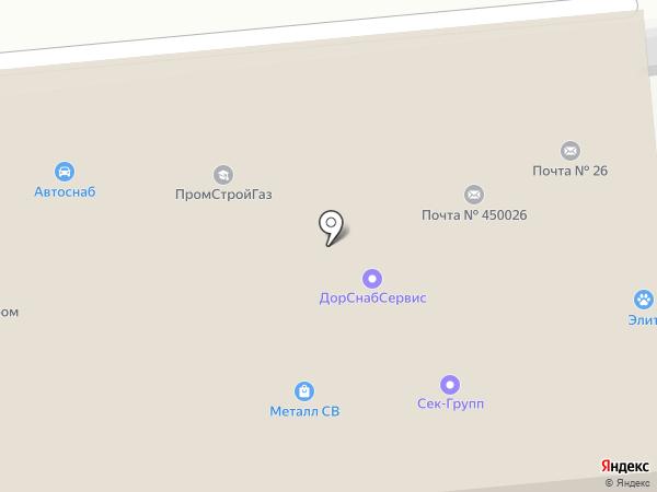 Мелдана на карте Уфы