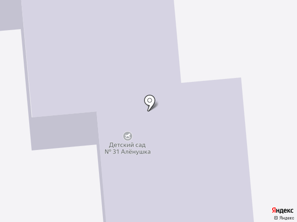 Детский сад №31, Аленушка на карте Ишимбая