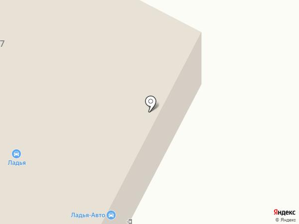 Ладья-Авто на карте Уфы