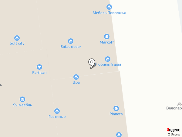 Игуана Мебель на карте Уфы