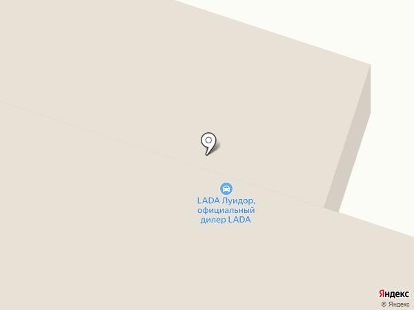 Луидор на карте Уфы