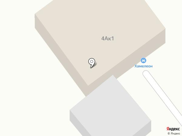 Хамелеон на карте Уфы