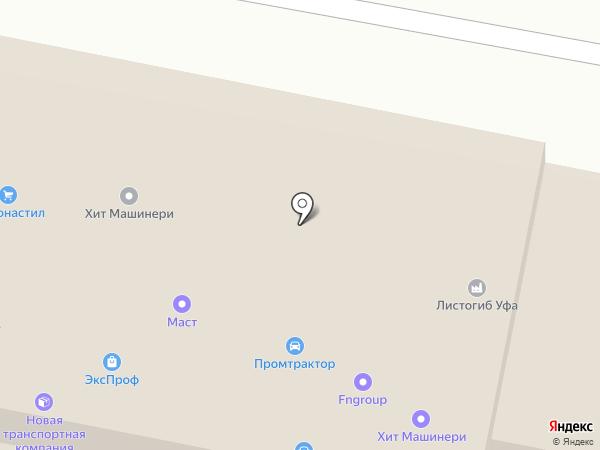 Автопэк на карте Уфы