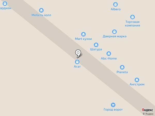 Кардинал на карте Уфы