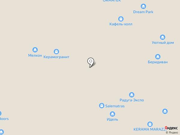 100 диванов на карте Уфы
