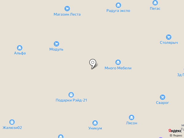 Радуга диванов на карте Уфы