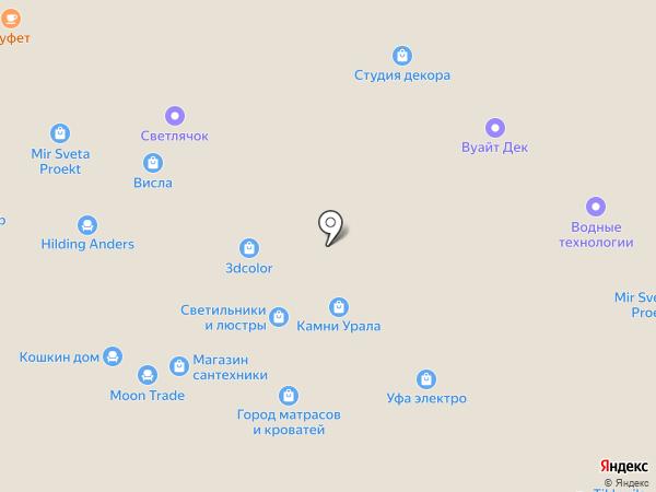 Мир комфорта на карте Уфы