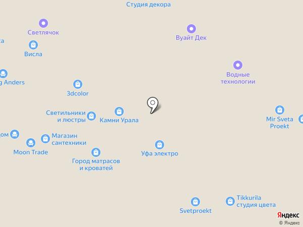 Ива на карте Уфы