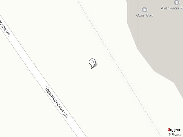 Малый отель на Черниковской на карте Уфы