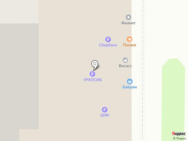 Магазин мужской одежды на карте Уфы